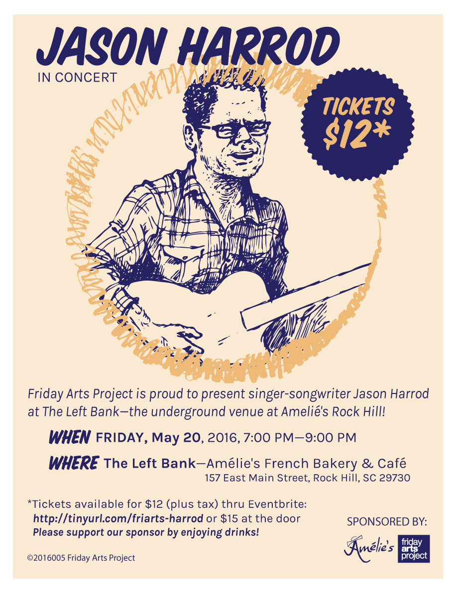 JASON HARROD concert flyer