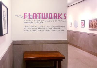 Flatworks Exhibit WAMA | 2019
